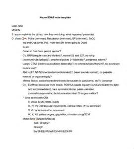 neuro template soap note template 9 free word pdf format