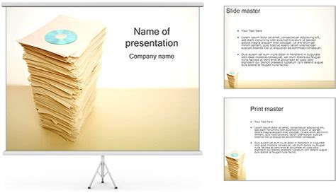 cd vs paper documents powerpoint template backgrounds id