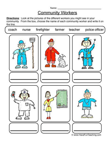 Community Worksheets community worksheet 1
