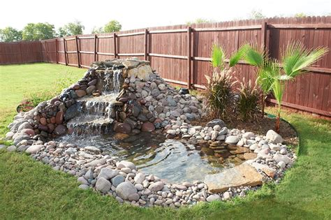 building ponds and waterfalls in backyard cement stone steps to backyard garden stock photo image