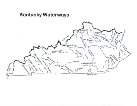 kentucky map formation of state geographic materials