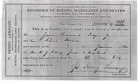 New Orleans Marriage Records What S New