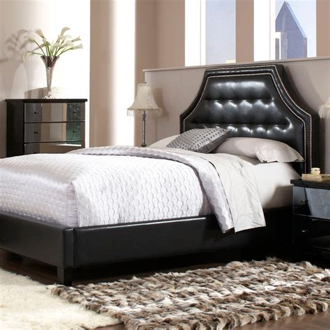 black headboard queen standard furniture parisian upholstered headboard in black