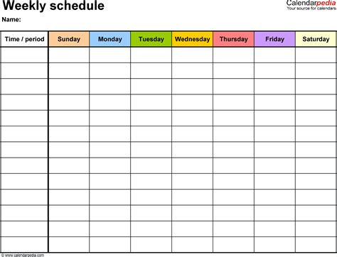 school term planner template 5 schedule template weekly procedure template sle