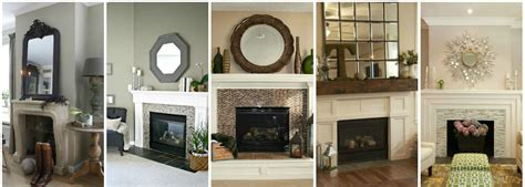 decorative mirrors for above fireplace with modern
