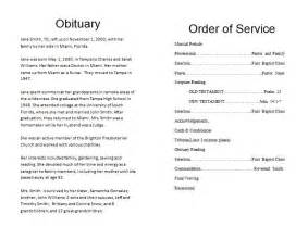 sle memorial service program template funeral order of service outline how to make a memorial