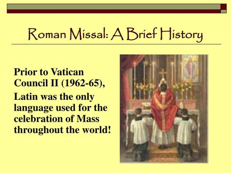the roman missal 1962 english and latin edition roman ppt the holy sacrifice of the mass powerpoint