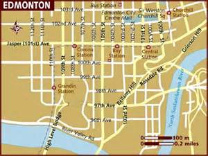 edmonton map of canada map of edmonton