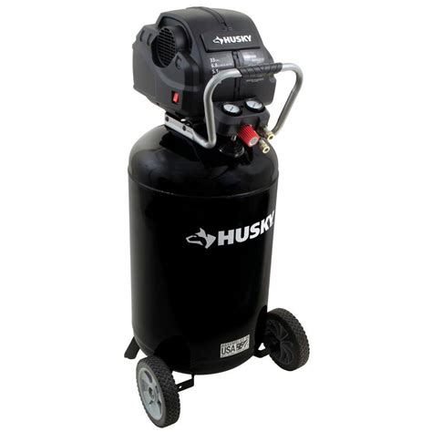 husky 33 gal portable electric air compressor c331h the home depot