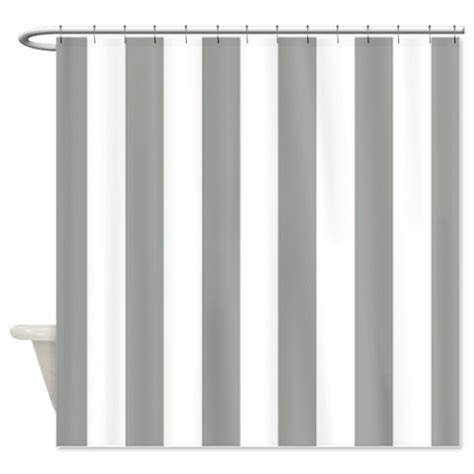 grey white striped shower curtain vertical striped custom shower curtain grey and white stripes