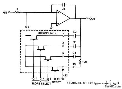 integrator circuit schematic programmable slope integrator led and light circuit circuit diagram seekic