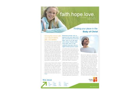 christian newsletter templates christian church youth ministry print template pack from