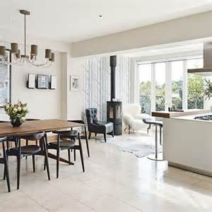 Kitchen Extension Tables Extension With A Wood Burner Side Return Kitchen Extension Black Chairs Stove