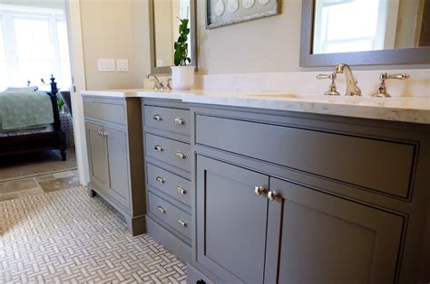 gray bathroom vanities cottage bathroom grace interiors