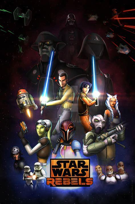 imagenes retro de star wars star wars rebels season 2 retro poster by mono owl on