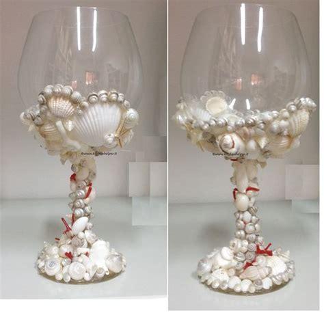 centrotavola con bicchieri bicchiere centrotavola con conchiglie e corallo