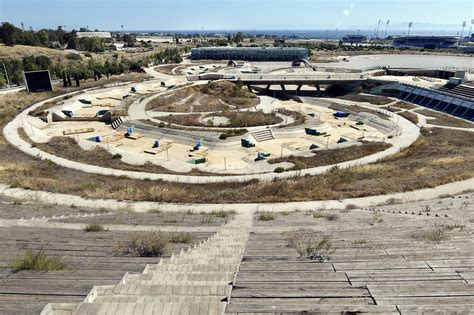 olympic venues athens olympic venues in ruins ten years after the games