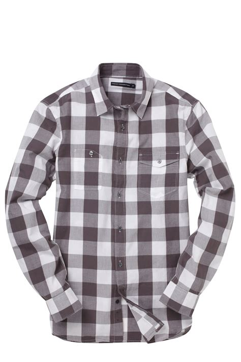 Sleeve Check Cotton Shirt sleeve cotton check shirt grey season