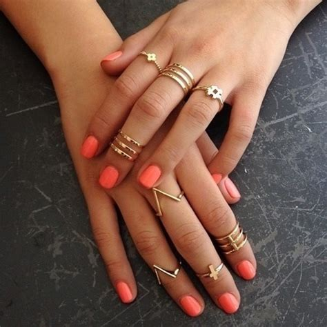 mid finger rings tumblr moda dise 241 o de u 241 as y m 225 s colores combinaciones y