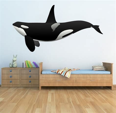 whale wall stickers orca whale wall decal animal wall decal murals primedecals