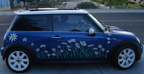 daisy flower decal stickers  fit mini cooper