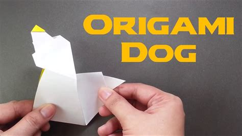Origami Barking - how to make origami barking paper easy origami