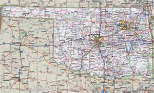 map with cities and roads large detailed roads and highways map of oklahoma state