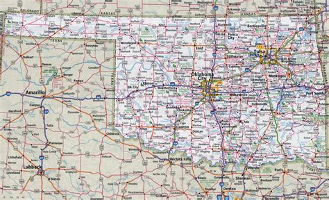 map oklahoma state oklahoma state map images
