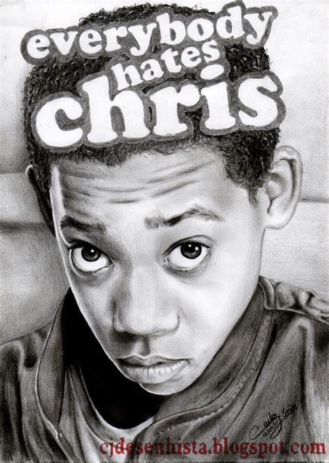Desenhando Com L 225 Pis Desenho De Carlos Junior Chris Brown Para Colorir