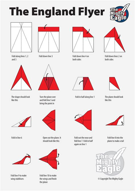 How To Make Paper Air Plans - the mighty eagle flyer paper plane the mighty eagle