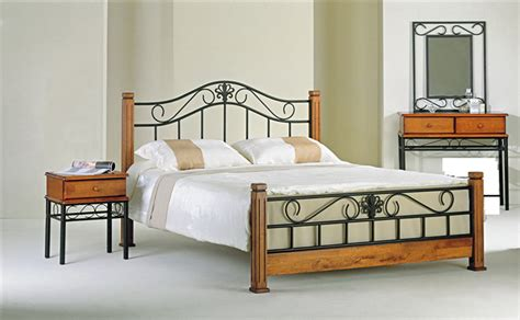 wood and wrought iron bedroom sets wrought iron and wood furniture furniture design ideas