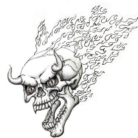 flaming skull coloring page flaming devil skull flash by steevdragon on deviantart