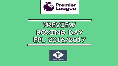 epl table boxing day 2016 preview boxing day epl 2016 top three manager debutan