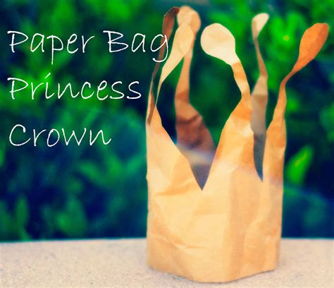How To Make A Paper Princess Crown - b w paper bag princess crown