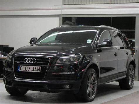 used audi q7 car 2007 black diesel 3 0 tdi quattro s 4x4