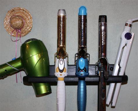Hair Dryer And Flat Iron Holder Diy bathroom organizer hair dryer from northwoodscrafts