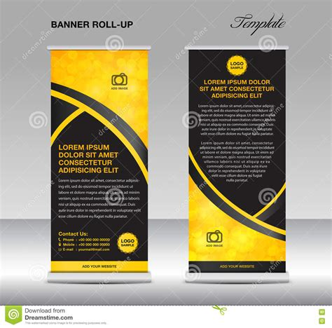 banner stand design templates yellow and black banner stand template stand design