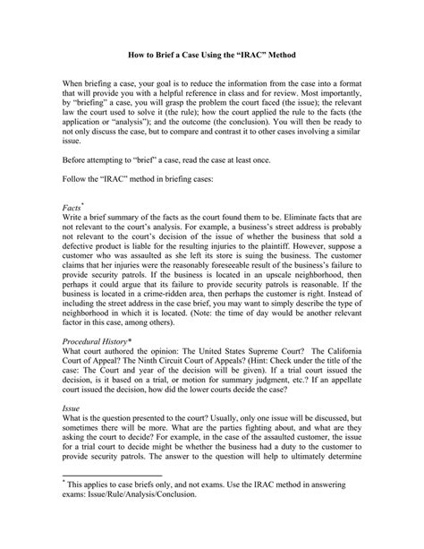 legal writing irac method case immigrantsessay web fc2 com