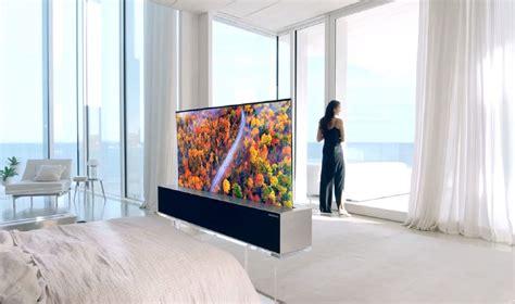 ces   migliori tv della fiera sempre piu grandi  ora anche arrotolabili wired