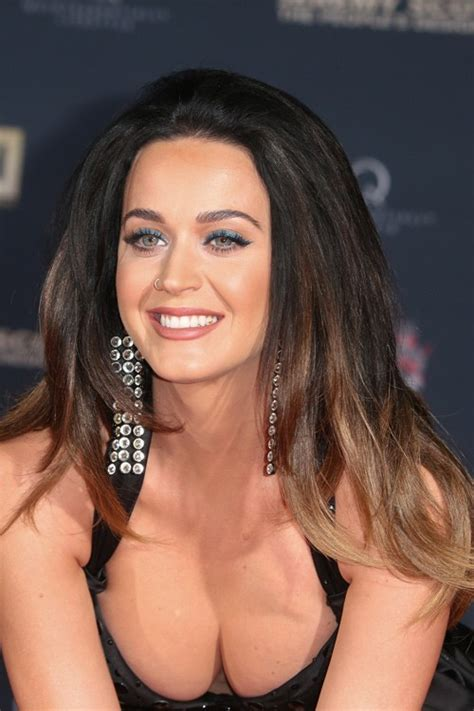katy perry straight medium brown ombr 233 hairstyle steal