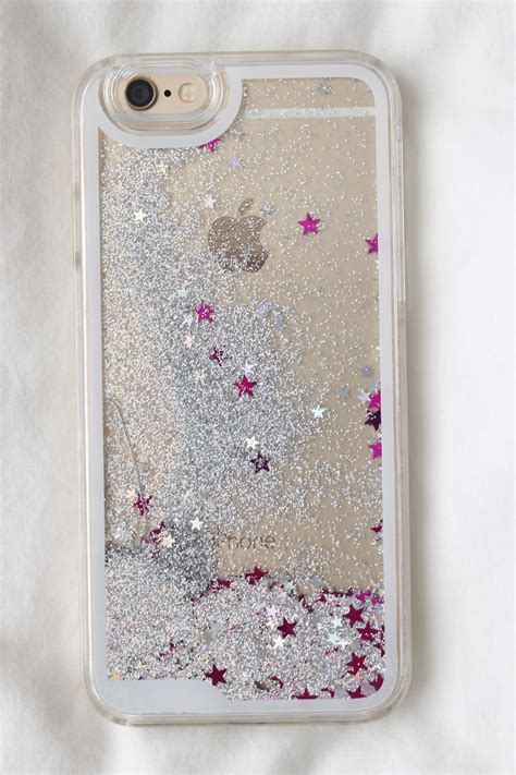Softcase Iphone 6g Plus 6s Plus Water Glitter Ring Hello Silver glitter liquid stitch chip dale elsa mermaid princess for iphone 7 7plus 6 6s