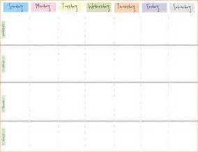 weekly calendar template printable printable weekly calendar questionnaire template