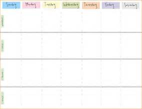 Calendar Printable Weekly Printable Weekly Calendar Questionnaire Template