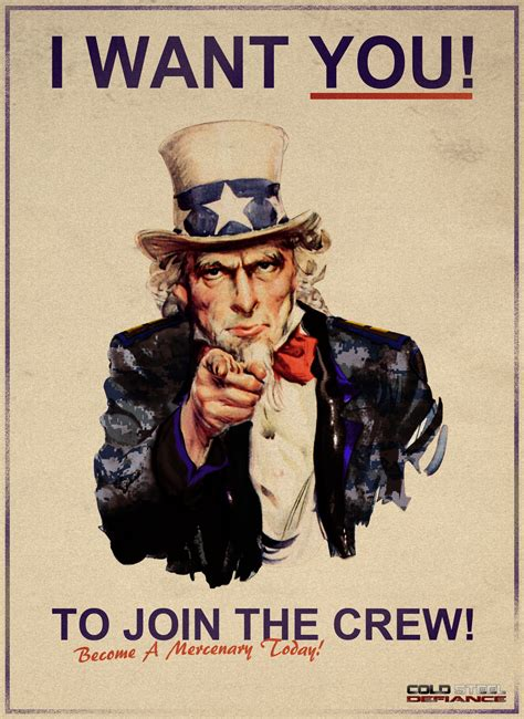 i want you template i want you to join the crew image cold steel defiance