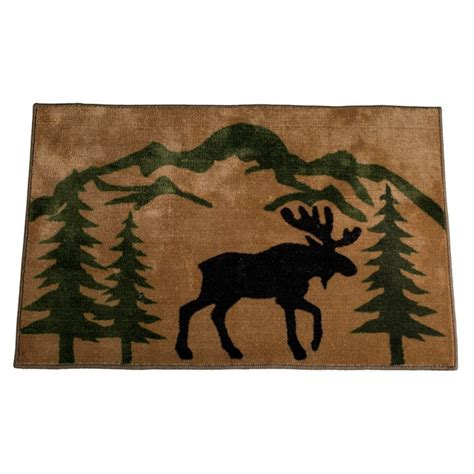 moose rug mountain moose kitchen and bath rug