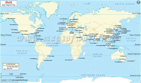 map world seas map world seas seaports map travel maps and major