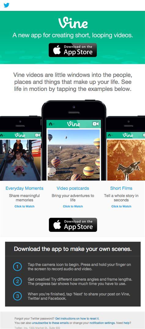 Vine Email Search デザイナーのインスピレーションを刺激する 海外のオシャレなhtmlメルマガ20選 スマホ版 Find Startup