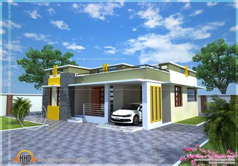 home design house plan of a small modern villa kerala