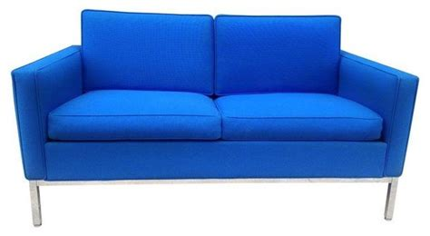 Blue Modern Sofa by Pre Owned Mid Century Royal Blue Steelcase Loveseat