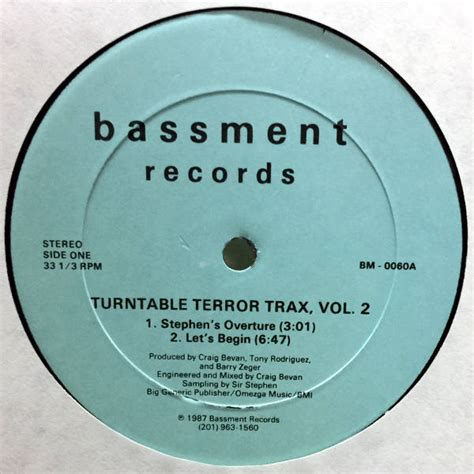 U S Records Index Volume 2 Turntable Terror Trax Vol 2 Detroit Center